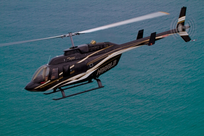 Helicopter flight over water, Miami, Fort Lauderdale
