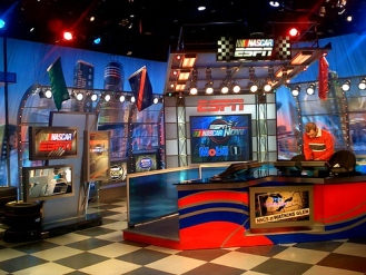 ESPNs studios, control room, and news room