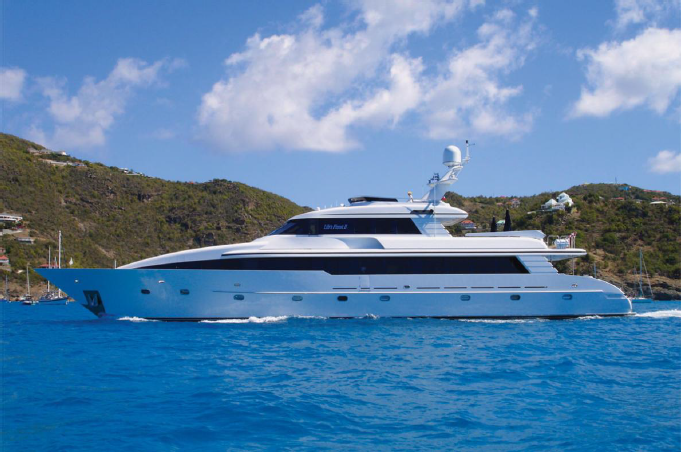 132' yacht with five staterooms. This yacht is ideal for charter!